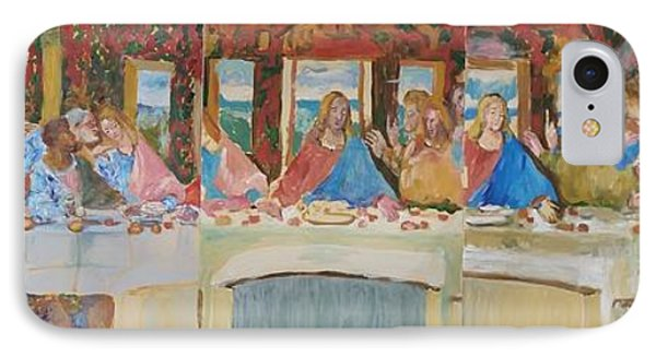 Last Supper Sketch Five Pannels IPhone Case by Bachmors Artist