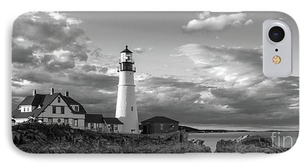 Late Afternoon Clouds, Portland Head Light  -98461 IPhone Case