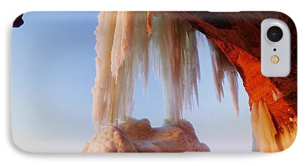 IPhone Case featuring the photograph Late Afternoon In An Ice Cave by Larry Ricker