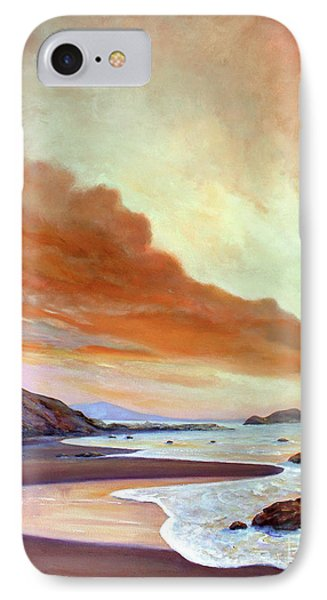 Late Afternoon On San Simeon Beach IPhone Case by Michael Rock
