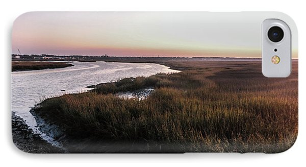 Late Afternoon On The Broad Creek Marsh IPhone Case by Thomas Marchessault
