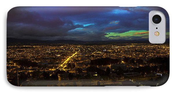Late Dusk View Of Cuenca From Turi IPhone Case by Al Bourassa