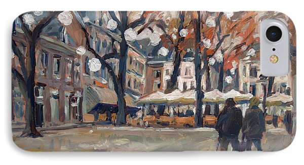 Late November At The Our Lady Square Maastricht IPhone Case by Nop Briex