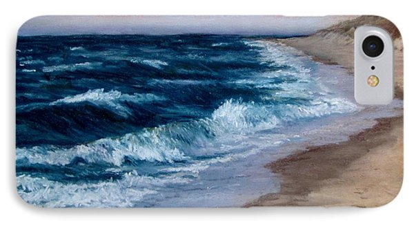 IPhone Case featuring the painting Late Spring At Cold Storage Beach by Jack Skinner