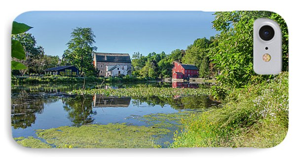 Late Summer - The Red Mill  On The Raritan River - Clinton New J IPhone Case by Bill Cannon