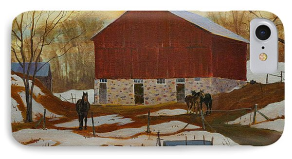 Late Winter At The Farm IPhone Case by David Gilmore