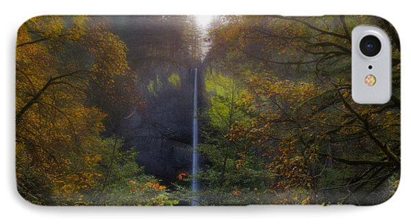 Latourell Falls In Autumn Phone Case by David Gn
