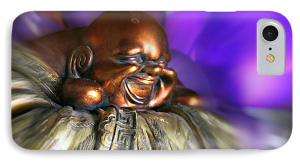 Laughing Buddha Violet Purple Flame IPhone Case