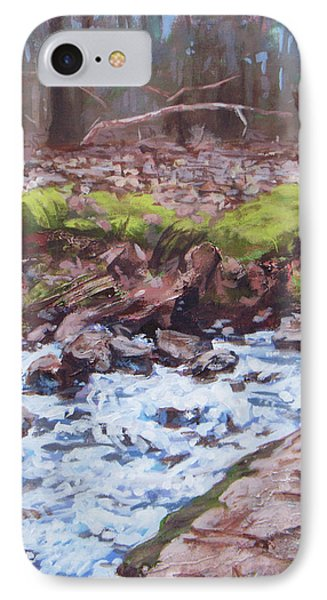 Laughing Stream In Winter Phone Case by Carol Strickland