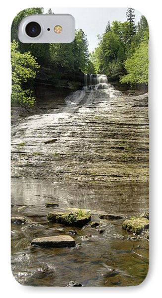 Laughing Whitefish Falls IPhone Case by Michael Peychich
