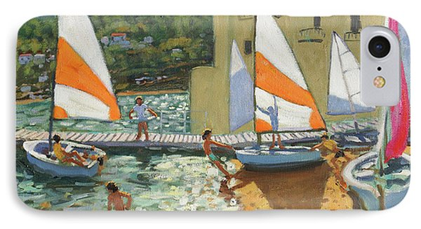 Launching Boats, Calella De Palafrugell, Spain IPhone Case by Andrew Macara