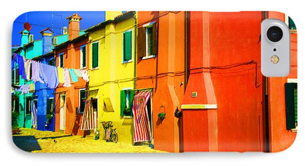 IPhone Case featuring the photograph Laundry Between Chimneys by Donna Corless