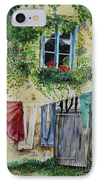 IPhone Case featuring the painting Laundry Day In France by Jan Dappen