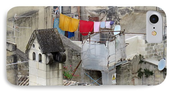 Laundry Day In Matera.italy IPhone Case