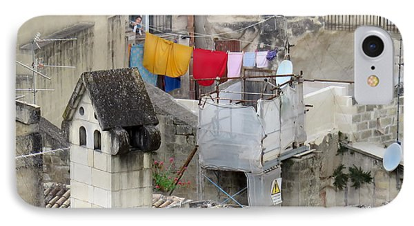 Laundry Day In Matera.italy IPhone Case by Jennie Breeze