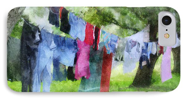Laundry Line IPhone Case by Francesa Miller
