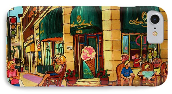 Laura Secord Candy And Cone Shop Phone Case by Carole Spandau