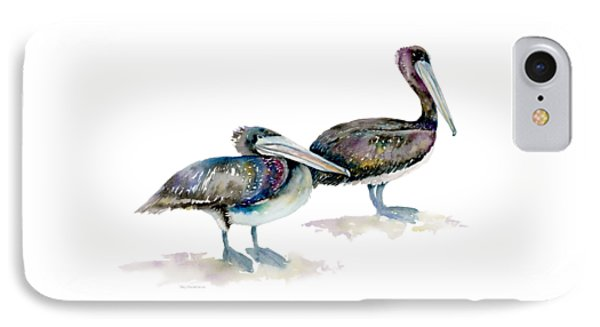 Laurel And Hardy, Brown Pelicans IPhone 7 Case by Amy Kirkpatrick