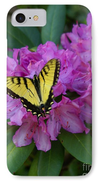 Laurel Bloom Butterfly Vertical IPhone Case by Annlynn Ward