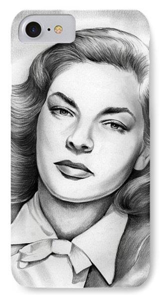 Lauren Bacall IPhone Case by Greg Joens