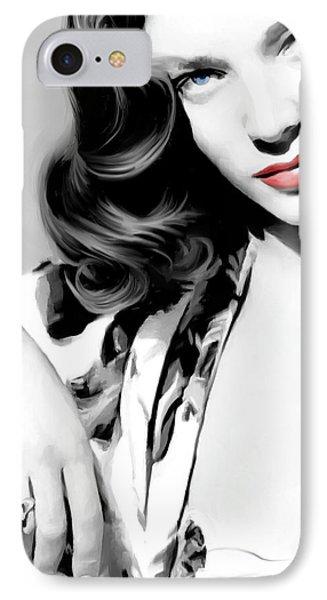 Lauren Bacall Large Size Portrait 2 IPhone Case