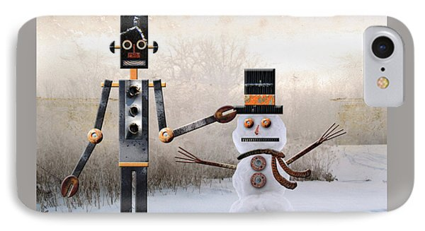 Laurence Builds A Snowman Phone Case by Joan Ladendorf