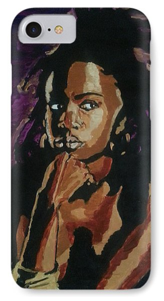 IPhone Case featuring the painting Lauryn Hill by Rachel Natalie Rawlins