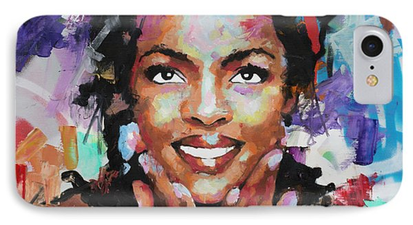 IPhone Case featuring the painting Lauryn Hill by Richard Day