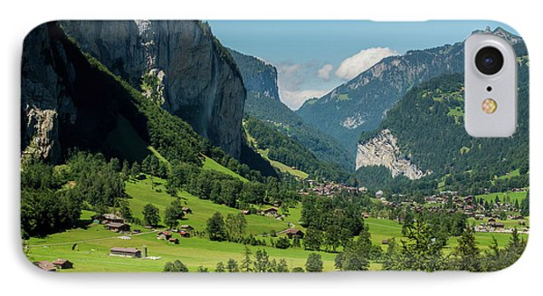 IPhone Case featuring the photograph Lauterbrunnen Mountain Valley - Swiss Alps - Switzerland by Gary Whitton