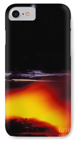 Lava And Moon Phone Case by William Waterfall - Printscapes