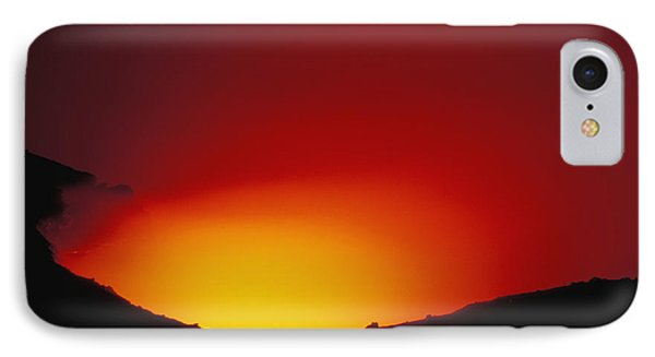 Lava Flows At Night Phone Case by William Waterfall - Printscapes