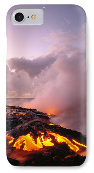 Lava Flows At Sunrise IPhone 7 Case by Peter French - Printscapes
