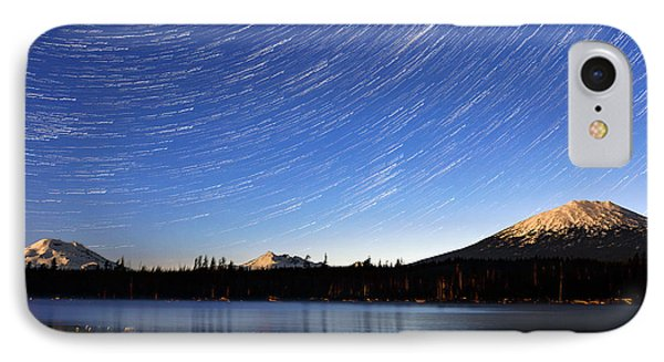 IPhone Case featuring the photograph Lava Lake Star Trails by Cat Connor