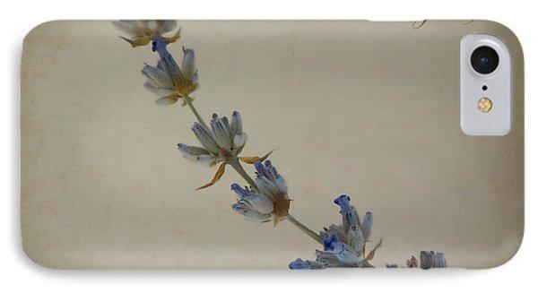 Lavandula Angustifolia IPhone Case by Julia Wilcox