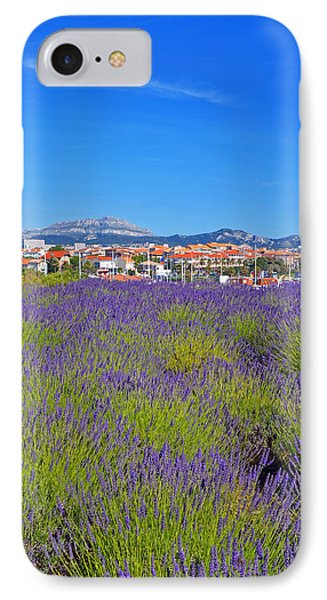 Lavendar Of Provence IPhone Case by Corinne Rhode