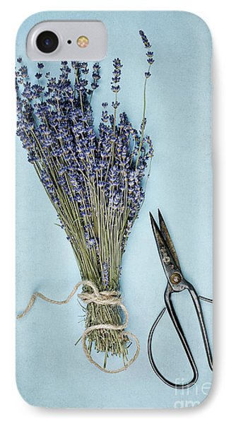 IPhone Case featuring the photograph Lavender And Antique Scissors by Stephanie Frey