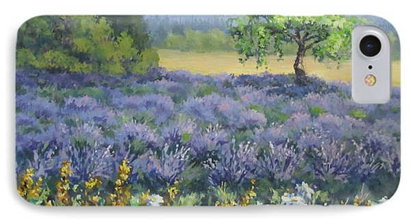 Lavender And Wildflowers IPhone Case by Karen Ilari