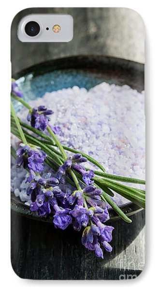 IPhone Case featuring the photograph Lavender Bath Salts In Dish by Elena Elisseeva