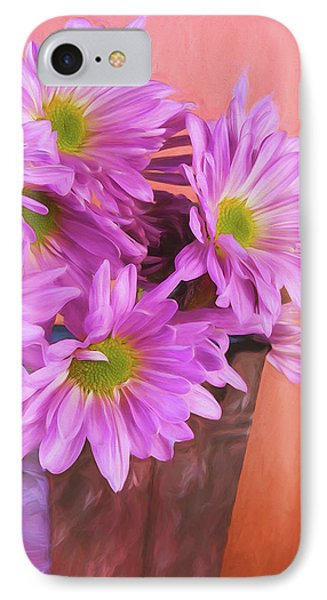 Daisy iPhone 7 Case - Lavender Daisies by Tom Mc Nemar