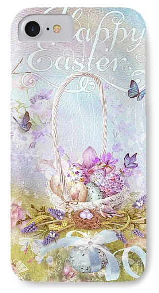 IPhone Case featuring the mixed media Lavender Easter by Mo T