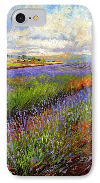 Lavender Field IPhone Case by David Stribbling