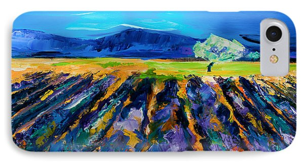 Lavender Field Phone Case by Elise Palmigiani