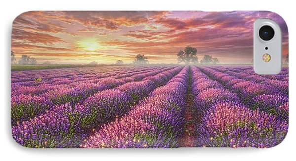 Lavender Field IPhone Case by Phil Jaeger