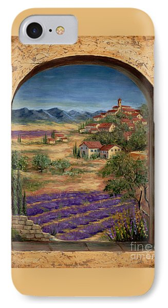 Lavender Fields And Village Of Provence IPhone Case by Marilyn Dunlap