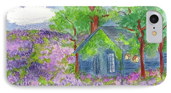 IPhone Case featuring the painting Lavender Fields by Cathie Richardson