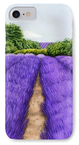 Lavender Fields IPhone Case by Sarah Batalka