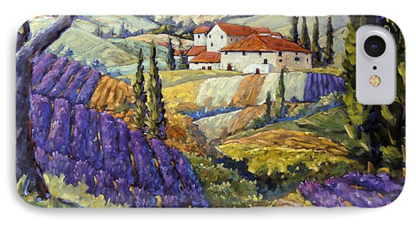 Lavender Fields Tuscan By Prankearts Fine Arts IPhone Case by Richard T Pranke