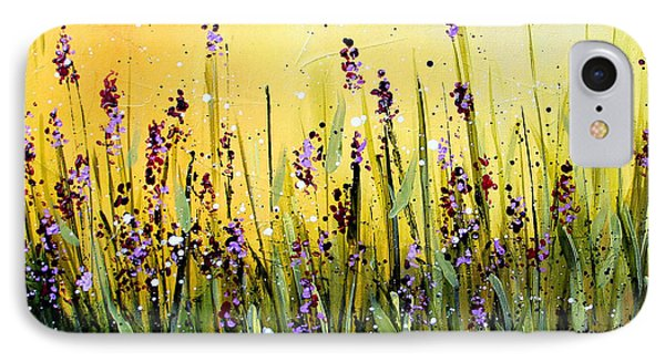 Lavender Garden IPhone Case by Marti Green