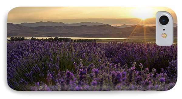 Lavender Glow IPhone Case by Chad Dutson