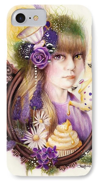 IPhone Case featuring the drawing Lavender Honey by Sheena Pike